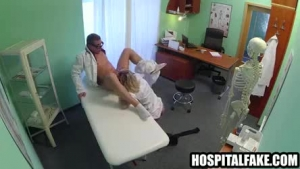 Yummy nurse sucking and getting fucked by the doc