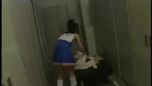 Horny petite schoolgirl fucked in the locker room