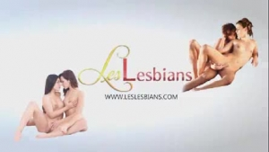 Some milf lesbians kissing and licking