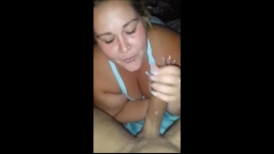 BBW Latina with huge round a butt named Eva Angelina is giving an amazing blowjob.